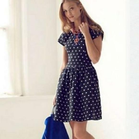 Anthropologie Dresses & Skirts - NWT Anthropologie Polka Dot Linen Dress 12